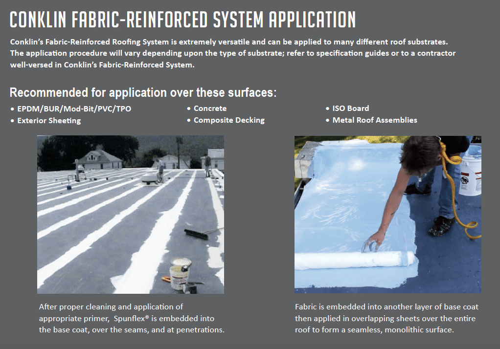 Conklin Fabric Reinforced System Application.